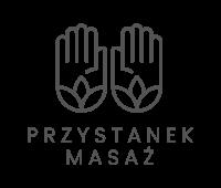 Logo pionowe czarne #przystanek-masaż